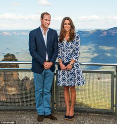 Royal tour: The picture was taken while the couple were visiting the Blue Mountains in Australia in April