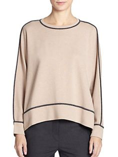 Brunello Cucinelli - Piped Cashmere Jumper