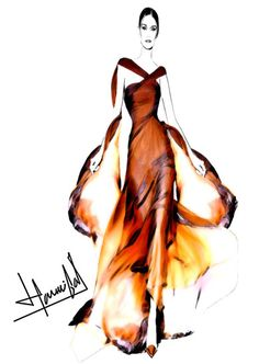 bocetos de vestidos roberto cavalli - Buscar con Google