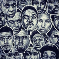 scribblezone sticker crowd - rapper - JayZ, J.Cole, Kanye, Joey Bada$$, Wiz Khalifa, Dr.Dre, Biggie, Tupac, Snoop Dogg, 50Cent, Childish Gambino, Drake, A$ap Rocky https://www.etsy.com/de/shop/ScribbleZone