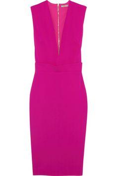 VICTORIA BECKHAM Silk And Wool-Blend Crepe Dress. #victoriabeckham #cloth #dress