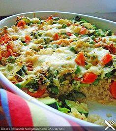 Quinoa - Gemüse - Auflauf, ein sehr schönes Rezept aus der Kategorie Gemüse. Bewertungen: 94. Durchschnitt: Ø 4,2.