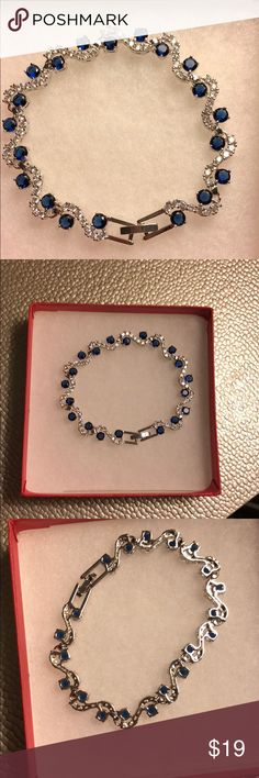 Austrian crystal and Swarovski elements. Simple beautiful bracelet.  Austrian crystal and Swarovski elements.  New with gift box Jewelry Bracelets