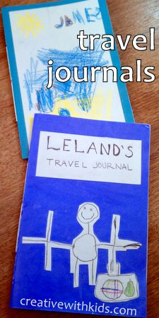 Easy Homemade Books - Travel Journals. Use clear dollar store shelf liner to laminate cover and make them more durable.