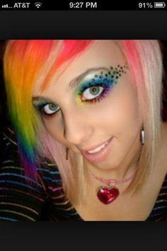 Pride makeup