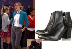"""Cece Jones (Bella Thorne) wears these Topshop Psychic Studded Black Ankle Boots, in this episode of Shake it Up, """"Brain it Up""""."""
