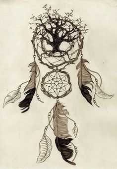 Tattoo? Its got two things i want a tree and a dream catcher..