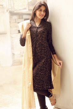 classic combinations of #black #gold #kurta