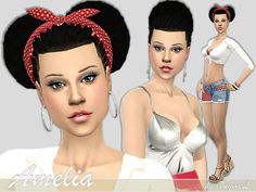 A beautiful model named Amelia!..  Found in TSR Category 'Sims 4 Young Adult Female Sims'