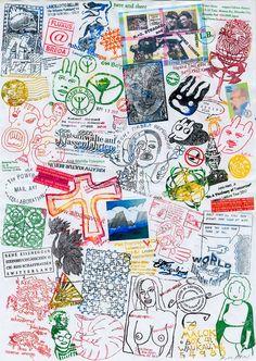 Fluxus, Mail Art, Brain, Thankful, The Brain, Letter Art