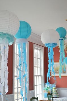 under the sea baby shower paper lantern jellyfish