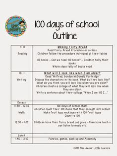 100 Days of School Ideas and Resources by Miss Jacobs Little Learners