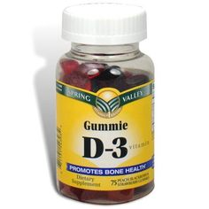 Spring Valley  Vitamin D3 1000 IU Peach Blackberry Strawberry Gummie Flavors 75 Gummies -- To view further for this item, visit the image link.