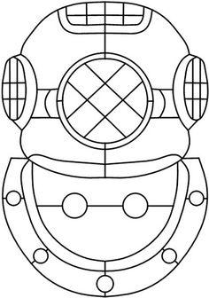 diving helmet- stain glass pattern