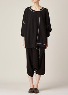 Y's by Yohji Yamamoto Swing Short (Black)
