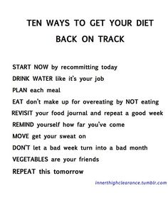 Steps to lose weight