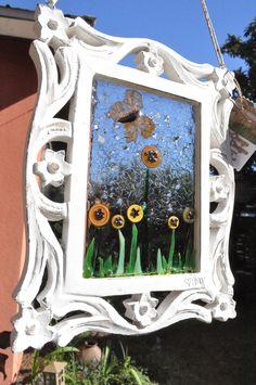 a sweet little  butterfly in a button garden!!!