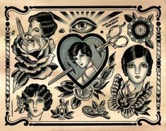 american traditional tattoo flash - Google Search