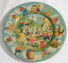 "1930 ""Peter Rabbit"" toy plate,illustrated by Harrison Cady, illustrator. Vintage Easter, Vintage Holiday, Rabbit Book, Mode Vintage, Vintage Style, Easter Parade, Vintage Nursery, Easter Celebration, Easter Holidays"