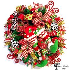 Running Elf Christmas Wreath, Whimsical Elf Wreath, XMAS Front Door Wreath, Elf on the Shelf Decor, Winter Wreaths, Ready to Ship by FancyWreathLady on Etsy https://www.etsy.com/listing/477398026/running-elf-christmas-wreath-whimsical #elf #Christmas