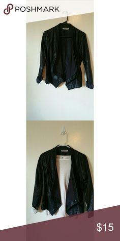 Vegan leather jacket. Long sleeve Vegan leather jacket. Great for layering. justfab Jackets & Coats