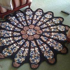 My longest running #WIP. Someday I will finish you, #crochet stained glass window blanket. Someday. #instacrochet