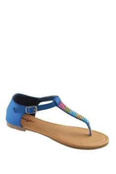 Spring Trend Report: Girls' Shoes Beaded T-Strap Sandal on HauteLook