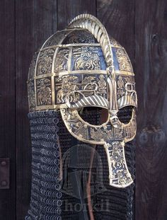 Recreation of Vendel I helm. Photograph courtesy of G.Kulig and P.Cowan.