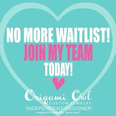 No more waiting! If you were wanting to join #OO but didn't want to wait, now is your time to JOIN my team! Have a debt free Christmas! You'll be glad you did :-) www.katka.origamiowl.com/join, ID# 27689