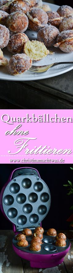 Quarkbällchen schmecken ja immer - aber wenn man sie nichtmal frittieren muss, ist's doch noch besser, oder? Kein triefendes Fett, einfach leckere unnfrittierte Quarkbällchen. Lecker! --- Yummy and healthier german Quarkbällchen without deep-frying them. Yum!