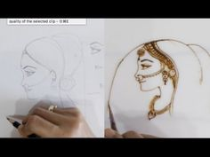 (24) how to draw side face bride : detail explanation with all proportion - YouTube