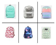 """Backpacks"" by scarpnz ❤ liked on Polyvore featuring Vans, Pantone, Roxy and JanSport"