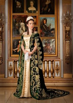 Russian Court dress. Modern work according to the fashion of the 19th century…