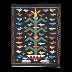 Black Navajo Tree of Life Weaving - Rena Begay ( - Product Archives Navajo Weaving, Navajo Rugs, Weaving Art, Hand Weaving, Native American Rugs, Native American Design, Indian Textiles, Weaving Projects, Soul Art