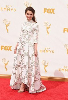Actress Emily Robinson attends the 67th Annual Primetime Emmy Awards at Microsoft Theater on September 20, 2015 in Los Angeles, California.