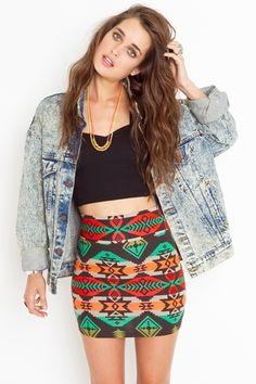Azteca Skirt - StyleSays