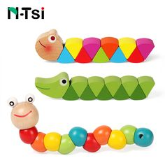 Learning & Education Toys & Hobbies Montessori Magnetic Wooden Worm Alphabet Car Math Number Developing Puzzle Animal Early Educational Insect Game Toy For Children Comfortable Feel