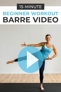 Beginner Workout: Barre Workout Video - - This quick + effective Cardio Barre Workout is low impact but high intensity! All the benefits of a cardio barre class at home; just press 'play'. Barre Workout Video, Cardio Barre, Beginner Workout At Home, Workout For Beginners, Workout Videos, At Home Workouts, Barre Fitness, Plank Workout, Yoga Workouts