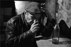 Ara Güler, A man in Thought in a Tophane Bar, Istanbul, 1959
