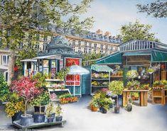 Marie-Claire Houmeau Flower Market - Paris