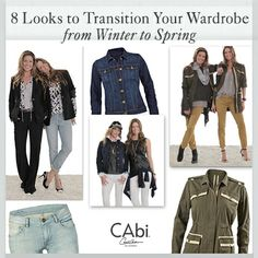 #CAbi - Yes, you can rock your go-to fall favorites into spring. In today's blog, learn how our Stylist Becky paired some fall pieces into new looks for spring. #fashion #spring #outfits