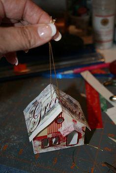 Christmas card Putz house by christmasnotebook, via Flickr