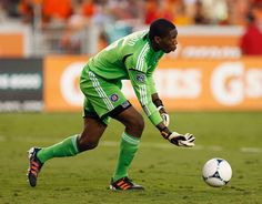 July 3, 2012; Houston, TX, USA; Chicago Fire goalkeeper Sean Johnson (25) in action against the Houston Dynamo during the first half at BBVA Compass Stadium. The Astros won 1-0.    Thomas Campbell - US Presswire