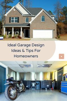 If you want to use your garage for more than just a storage area, you'll only need to follow our simple organization tips and some of these garage design ideas and get your garage organized! Garage Renovation, Garage Remodel, Garage Makeover, Remodeling Costs, Home Remodeling, Car Shelter, Wooden Cladding, Waterproof Paint, Brick And Mortar