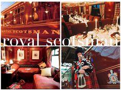 """The Royal Scotsman. Voyage luxueux à bord d'un train magnifique en Écosse. La """" classe"""" !! Le rêve ! Wow !"""