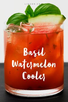 You're going to love this basil #watermelon #cocktail. Make it now just in time for summer!