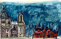 In 1936, Ludwig Bemelmans painted scenes of the Twin Cities to illustrate an article in Fortune magazine. If the style looks at all familiar, its probably because youre remembering Bemelmans most famous creation — a Parisian schoolgirl named Madeline.