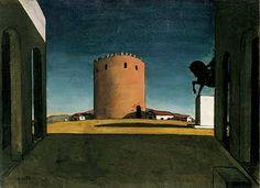 The Anguish of Departure  1914  by Giorgio de Chirico
