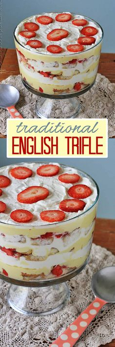 If I had to choose one dessert as the most nostalgic for me, that would be a traditional English Trifle. I love the flavor combinations! How To Choose Wedding Cake Flavors English Trifle, English Desserts, English Food, British English, Trifle Desserts, Delicious Desserts, Dessert Recipes, Christmas Trifle, Christmas Desserts