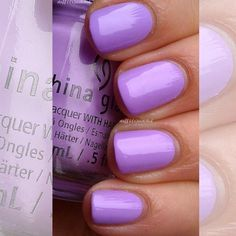 Wedding Nails Lavender China Glaze Ideas For 2019 Neon Nail Polish, China Glaze Nail Polish, Neon Nails, Purple Nails, Nail Polish Colors, Lavender Nail Polish, Lavender Nails, Pretty Nail Art, Cute Nail Art